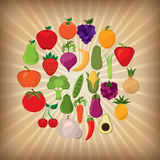 Fruits and vegetables design Stock Photos