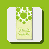 Fruits and vegetables design Royalty Free Stock Image