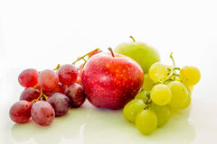 Fruits and vegetables. On a different background Stock Images