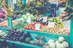 Fruits and vegetables.Farmer`s Market. San Jose, Costa Rica, tro Stock Image