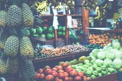 Fruits and vegetables.Farmer`s Market. San Jose, Costa Rica, tro Royalty Free Stock Image