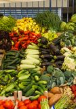 Fruits and vegetables at a farmers market. royalty free stock image