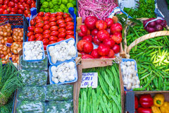 Fruits and vegetables at a farmers market Stock Photography