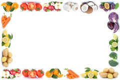 Fruits and vegetables frame apples oranges tomatoes vegetable food copyspace copy space stock images