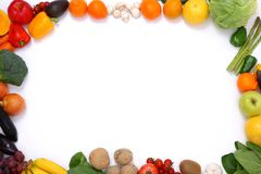 Fruits and vegetables frame Stock Photography