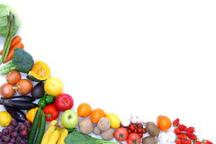 Fruits and vegetables frame royalty free stock image