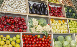 Fruits and vegetables. Fresh aliments from asian market Stock Photos