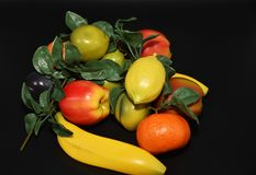 Faux Fruits and vegetables. Fruits and vegetables, fresh food Stock Image