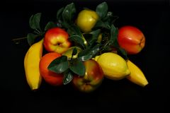 Faux Fruits and vegetables. Fruits and vegetables, fresh food Stock Photo