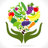 Fruits and Vegetables  : Health in your hands Royalty Free Stock Image