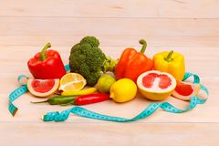 Fruits and vegetables for healthy eating Royalty Free Stock Photo