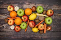 Fruits and vegetables - Healthy life.  royalty free stock image