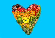 Fruits and vegetables heart Stock Photos