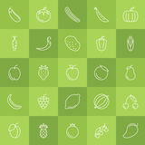 Fruits and Vegetables icon set Royalty Free Stock Image