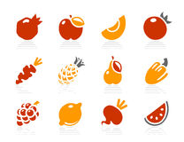 Fruits and Vegetables icons Stock Photos
