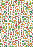 Fruits & Vegetables Illustration Pattern Background. This is a pattern background of Fruits & Vegetables Illustrations Royalty Free Stock Images
