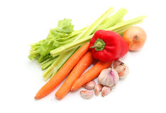 Fruits and Vegetables and ingredients Royalty Free Stock Photos