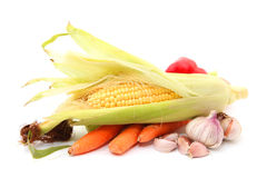 Fruits and Vegetables and ingredients Royalty Free Stock Photography