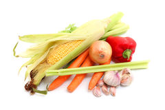 Fruits and Vegetables and ingredients Stock Photo