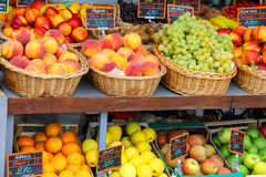 Fruits and vegetables in the Italian city market Royalty Free Stock Photography
