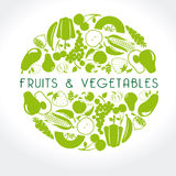 Fruits and vegetables label Royalty Free Stock Photos