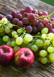 Fruits and vegetables. Fruits like apples and grapes and other tropical fruits Royalty Free Stock Image