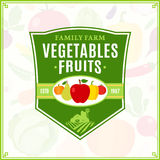 Fruits and Vegetables Logo, Fruits and Vegetables Icons and Desi Royalty Free Stock Images
