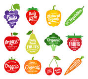 Fruits and Vegetables Logo, Fruits and Vegetables Icons and Desi Stock Photo