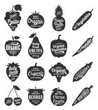 Fruits and Vegetables Logo, Fruits and Vegetables Icons and Desi Royalty Free Stock Photos