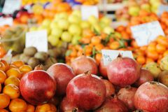 Fruits and vegetables market, Stock Photo