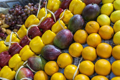 Fruits and vegetables at market Royalty Free Stock Image