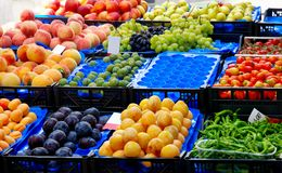 Fruits and vegetables market Royalty Free Stock Image