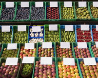 Fruits & vegetables at the market Stock Photography