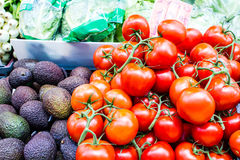 Fruits and vegetables at a market Royalty Free Stock Photography
