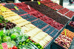 Fruits and vegetables at a market Royalty Free Stock Image