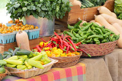Fruits and vegetables at market Stock Image