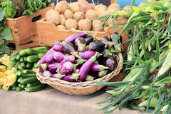 Fruits and vegetables at market Royalty Free Stock Photography