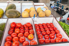 Fruits and vegetables market Royalty Free Stock Images