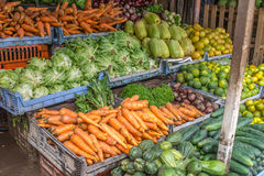 Fruits and vegetables from a market Stock Photography