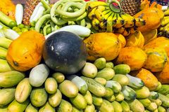 Fruits and vegetables on the market in Java Indonesia. Asia Stock Image