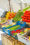 Fruits and vegetables at  market stall Royalty Free Stock Image