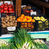 Fruits and vegetables on the  market Royalty Free Stock Photos