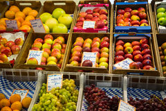 Fruits and vegetables on the marketplaces Royalty Free Stock Photography