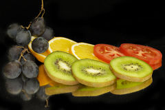 Fruits with vegetables Royalty Free Stock Photography