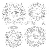 Fruits Vegetables Monograms Royalty Free Stock Image