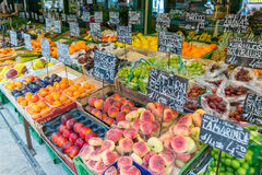 Fruits and vegetables on Naschmarkt in Vienna, Austria Stock Images