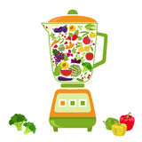 Fruits and vegetables. Nutrition. Icon set Royalty Free Stock Photo