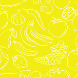 Fruits and vegetables pattern Royalty Free Stock Image