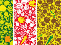 Fruits and vegetables pattern. Stock Photo