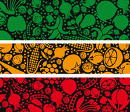 Fruits and vegetables pattern. Stock Photography